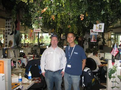 Me at Tony Hsieh's desk (Zappos CEO)